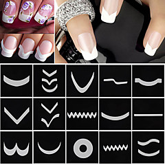 18 Nail Art klistremerke Guide French tips makeup Cosmetic Nail Art Design