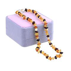 Pánské Dámské Obojkové náhrdelníky Řetízky Pramenů Náhrdelníky Onyx Topaz Achát Jantar Jeden pruh Oval Shape Round ShapeRozkošný
