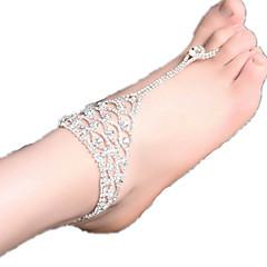 kvinners si rhinestone ankelen smykker 1 stk