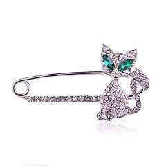 여성 브로치 모조 다이아몬드 패션 실버 골든 보석류 일상 캐쥬얼