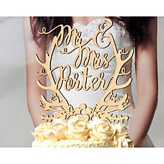 קישוטים לעוגה מותאם אישית זוג קלסי דתי כרום נייר כרטיס חתונה יום שנה מסיבה לכלה צהוב נושאי גן נושא פרחוני נושא קלאסי נושא אגדות נושא וינטג