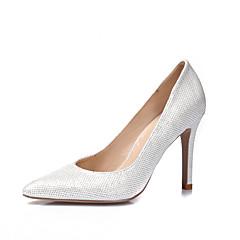 Feminino-SaltosSalto Agulha-Dourado Branco Preto Prata-Gliter Courino-Casamento Festas & Noite Casual