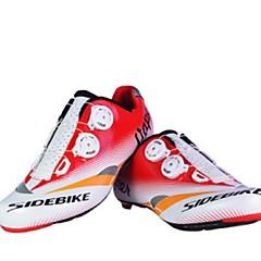 BOODUN/SIDEBIKE® J050673 004 サイクリングシューズ ロードバイクシューズ 女性用 アンチスリップ 耐摩耗性 速乾性 超軽量(UL) ロードバイク PUレザー 通気性メッシュ EVA サイクリング