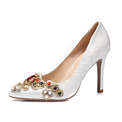 Women's Heels Spring Summer Fall Winter Other Glitter Wedding Party & Evening Dress Stiletto HeelRhinestone Applique Imitation Pearl