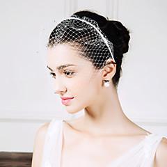 נשים ריינסטון רשת כיסוי ראש-חתונה אירוע מיוחד קז'ואל סרטי ראש Birdcage Veils חלק 1
