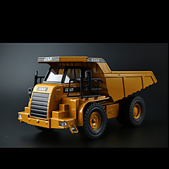 Construction Vehicles Pull Back Vehicles 1:10 Metal Plastic Yellow