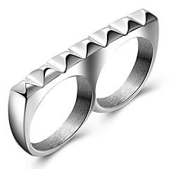 Prstýnky Párty Denní Ležérní Sport Šperky Titanová ocel Muži Prsteny s kamenem Prsten 1ks,7 8 9 Viz fotografie