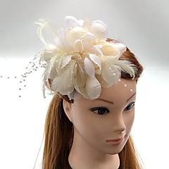 成人用 羽毛 シフォン かぶと-結婚式 パーティー ヘッドドレス コサージュ ティアラ 1個