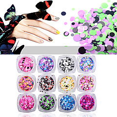 12pcs Neglekunst Dekoration Rhinsten Perler Makeup Kosmetik Neglekunst Design