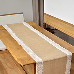 Burlap and Lace Table Runner Wedding Decoration Modern Jute Lace Table Runners Vintage Tablecloth Home Textile 35x200cm