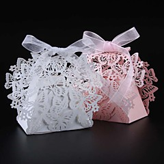 50pcs/lots butterfly wedding favors box candy box