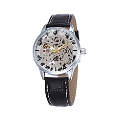 Men's Sport Watch Fashion Watch Wrist watch Mechanical Watch Automatic self-winding Hollow Engraving Genuine Leather Band Casual Luxury