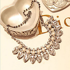 Femme Colliers chaînes Perle Mode Mariée Or Argent Bijoux PourMariage Soirée Halloween Anniversaire Fiançailles Quotidien Décontracté