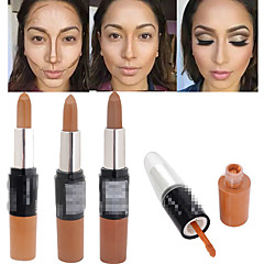 1Pcs Bronzer 3D Makeup Highlight Contour Cream Stick Dark Color Long Lasting Contouring Foundation Face Concealer Liquid Pen