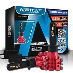 nighteye 1対h1は自動車が電球フィリップスZESは車の照明キットを主導主導60ワット10000lm 6500K自動車のヘッドライトを導きました