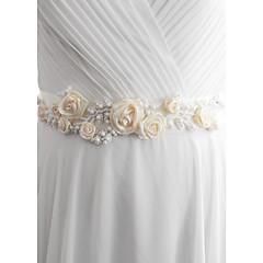 Satin Hochzeit Party / Abend Alltagskleidung Schärpe-Perlstickerei Blumen Künstliche Perle Damen 250cmPerlstickerei Blumen Künstliche