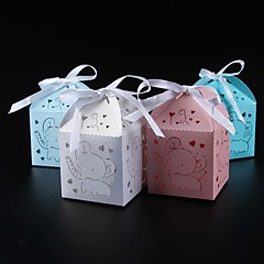 25pcs/lots Birthday Party Decoration Kids Candy Box Baby Shower Paper Box Party Show Gift Box