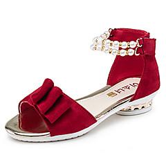 Sandálias-Menina Flor Shoes-Salto Baixo-Preto Vermelho-Couro Envernizado-Casamento Social Casual