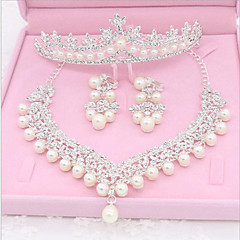 2017 New Bride Jewelry Three Suit Crown Necklace Earrings Wedding Wedding Accessories