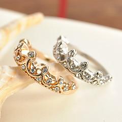 Prstýnky Svatební Párty Zvláštní příležitosti Halloween Denní Ležérní Šperky Slitina Zirkon Prsten 1ks,5 6 7 Zlatá
