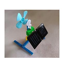 צעצועים לבנים צעצועי דיסקברי צעצועים המופעלים באנרגית השמש מכונה פלסטיק מתכת חום ירוק