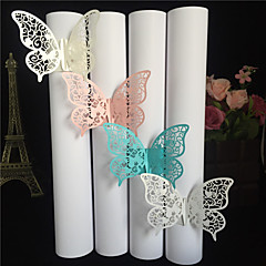40pcs/lots Party Favors Wedding Napkin Holder Laser Cut Butterfly Napkin Ring Paper Napkin Ring For Wedding Decoration Party Supplies