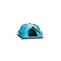 3-4 사람 텐트 더블 베이스 가족 캠프 텐트 원 룸 캠핑 텐트 폴리에스터 방수 호흡 능력 바람 방지-하이킹 캠핑 여행 야외