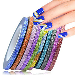 1set 12rolls Adesivos para Manicure Artística Folha Tape Stripping maquiagem Cosméticos Designs para Manicure
