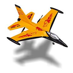 Planeur RC Avion RC Jaune Assemblement requis Télécommande Hélices Câble USB Manuel D'Utilisation Avion