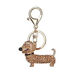 Nøglering Hunde Nøglering Gyldent Sort Metal