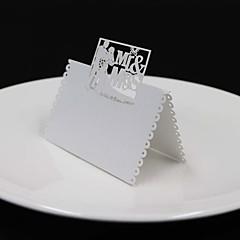 40pcs Bride And Groom lace Laser Wedding Party Table Name Place Cards Favor Decor laser bridge and groom wedding souvenirs wedding decoration