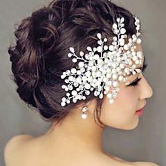 Kristallen Helm-Bruiloft Speciale gelegenheden Informeel Buiten Hoofdbanden Bloemen Guirlandes Haarclip Haarstokje Haaraccessoire 1 Stuk