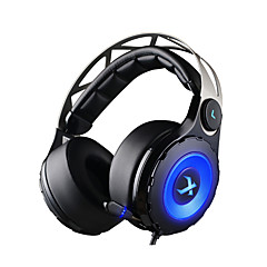 xiberia T18 gaming headset hovedtelefoner over-ear usb 7.1 ledede gaming headsts med udtrækkeligt mikrofon til pc gamer