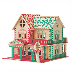jigsaw zagonetke Set Uradi sam 3D puzzle Puzzle Logičke igre i puzzle Građevni blokovi DIY igračkeKvadrat Poznata zgrada Kineska
