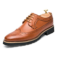 Men's Oxfords Spring Fall Gladiator Formal Shoes Comfort Bullock shoes Leather Wedding Office & Career Party & Evening Low HeelStitching