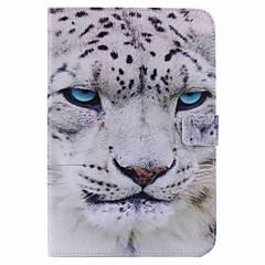 Для Кошелек Бумажник для карт со стендом С функцией автовывода из режима сна Флип С узором Кейс для Чехол Кейс для Животный принт Твердый