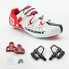 BOODUN/SIDEBIKE® Tênis Tênis para Ciclismo Sapatilhas de Ciclismo com Travas & Pedal Unisexo Almofadado Bicicleta de Estrada Ciclismo