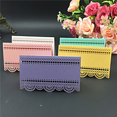 40pcs Lace Laser Cut Wedding Party Table Name Place Cards Wedding Party Decoration Wedding Favors Party Supplies
