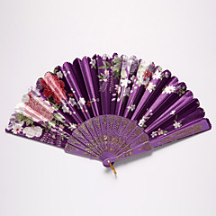Seide Ventilatoren und Sonnenschirme-1 Stück / Set 4 Stück / Set Stück / Set HandfächerStrand Thema Garten Thema Blumen Thema