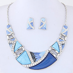 Schmuckset Modisch Euramerican Aleación Geometrische Form Regenbogen Grün Blau 1 Halskette 1 Paar Ohrringe Für Party Alltag 1 Set