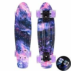 22 polegadas Cruisers skate PP (Polipropileno) ABEC-11-Roxo Azul Rosa claro