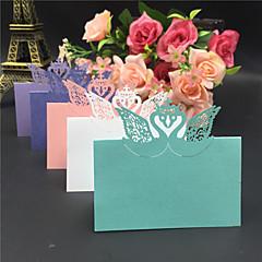 נייר פנינה מחזיקי כרטיס מקום סגנון עמידה שקית פלסטיק