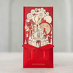 Přizpůsobeno Zabalení do kapsy Svatební PozvánkyPozvánky na zásnubní večírek Rozloučení se svobodou karty Sady pozvánek Ušetřete datové