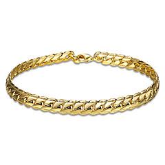 女性用 女性´ チェーン&リンクブレスレット クリスタル ゴールドメッキ ローズゴールドめっき 友情 ファッション スネーク ゴールド ローズゴールド ジュエリー 1個