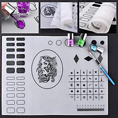 painatus silikoni matto nail art manikyyri työkalusarja monipuolistaa kosmeettisia nail art DIY