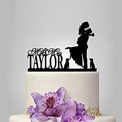 Tortenfiguren & Dekoration individualisiert Klassisches Paar Acryl Hochzeit Jubliläum Brautparty Garten Thema Klassisches Thema OPP