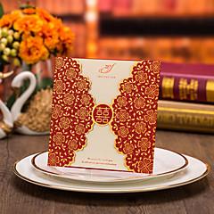 Personalizado Dupla Dobra-Portão Convites de casamento Cartões de convite-50 Peça/Conjunto Estilo Flôr Papel de Cartão