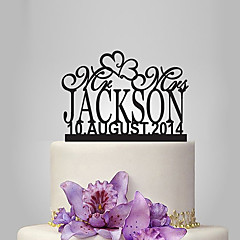 Personalized Acrylic Mr & Mrs Anniversaries Wedding Cake Topper