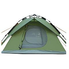 3-4 사람 텐트 더블 베이스 캠핑 텐트 원 룸 자동 텐트 자외선 방지 비 방지 용 캠핑 여행 CM