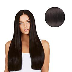 7 buc / set # 1b Clip negru natural negru în extensii pentru păr 14inch 18inch 100% păr uman